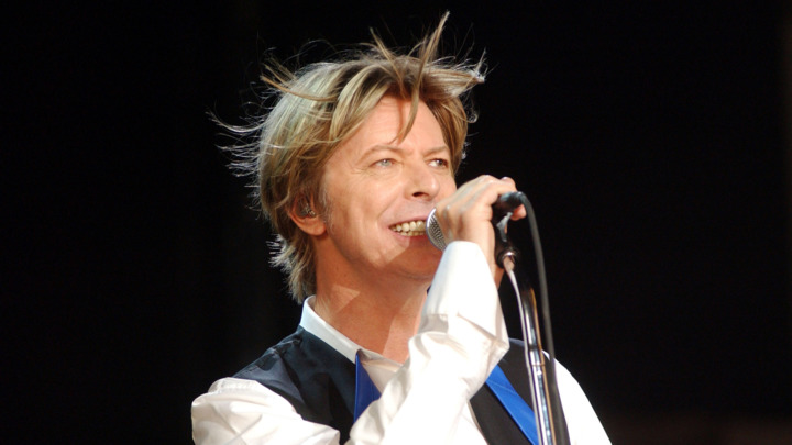 David Bowie in Concert - July 31, 2002 at PNC Arts Center in Holmdel, New Jersey, United States. (Photo by Debra L Rothenberg/FilmMagic)