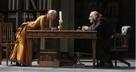 Laura (Anne Kessler) et le Capitaine (Michel Vuillermoz)