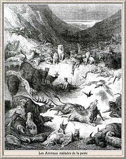 Les animaux malades de la peste, Gustave Doré