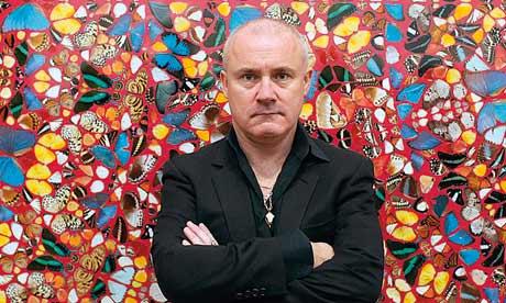 Damien Hirst, bien vivant, en 2012