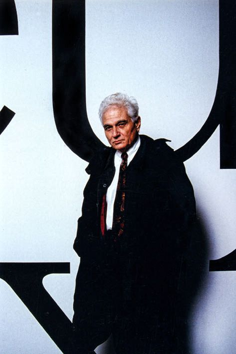 Jacques DERRIDA. Photo : Daniel Mordzinski
