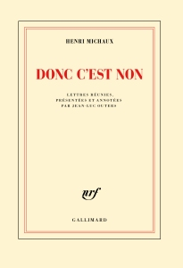 MICHAUX-Henri-COUV-Donc-cest-non