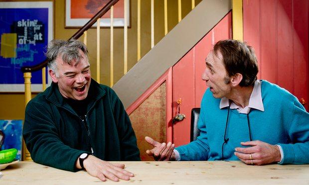 Stewart Lee et Will Self © David Bebber, The Guardian