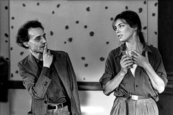 Jacques Rivette et Jane Birkin