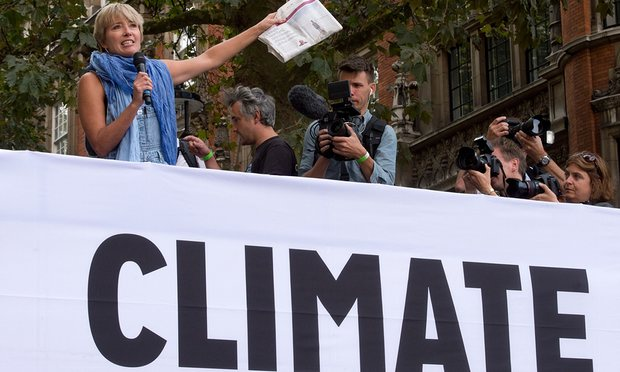 Emma Thompson at the end of The People's Climate March, central London, Photograph: Laura Lean/PA