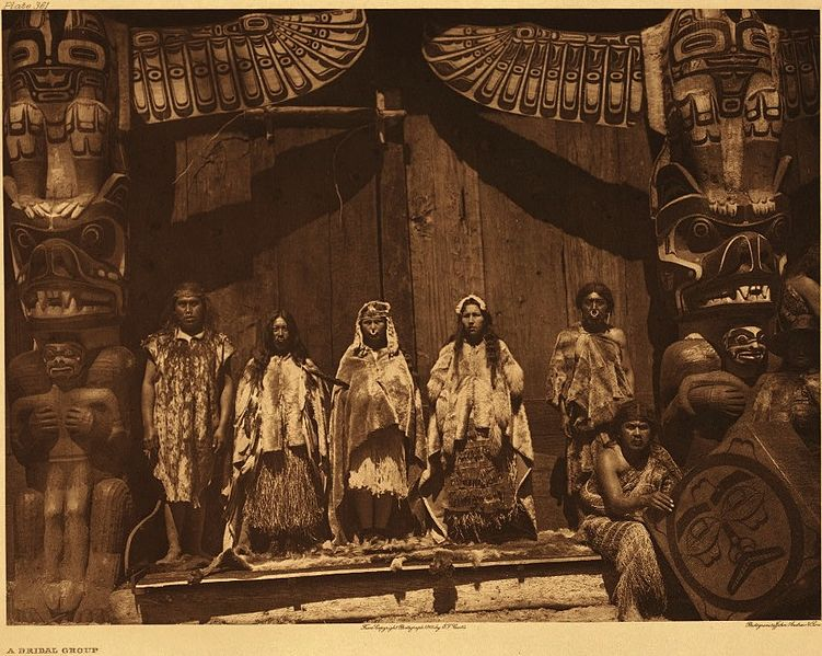 A Potlatch ceremony, Edward Curtis, 1930, The US Library of Congress.