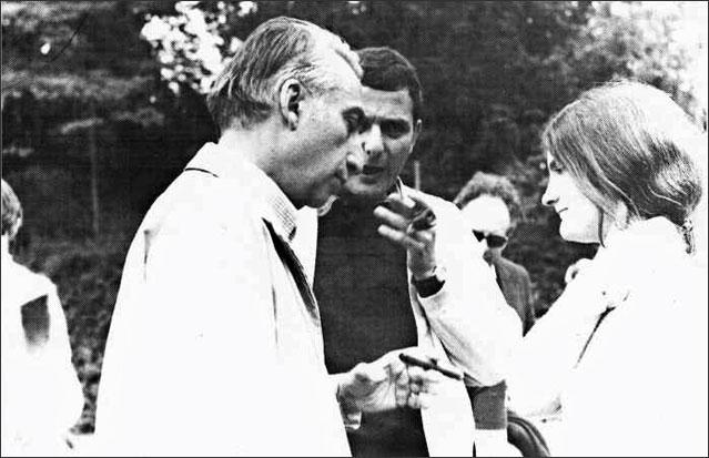 Roland Barthes et Philippe Sollers, Cerisy, juillet 1972. (photo Stanislas Ivankow)