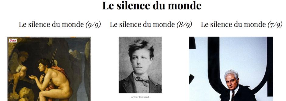 Le silence du monde