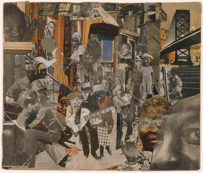 Romare Bearden, The Street, 1964 © Romare Bearden Foundation/Licensed by VAGA, New York, NY