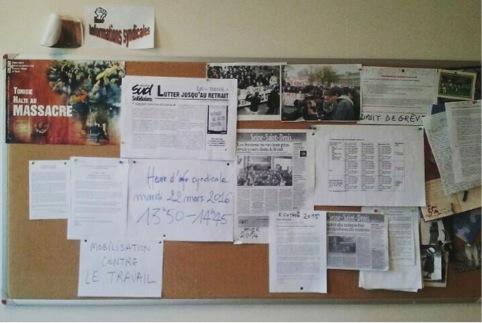 Une salle des profs en France