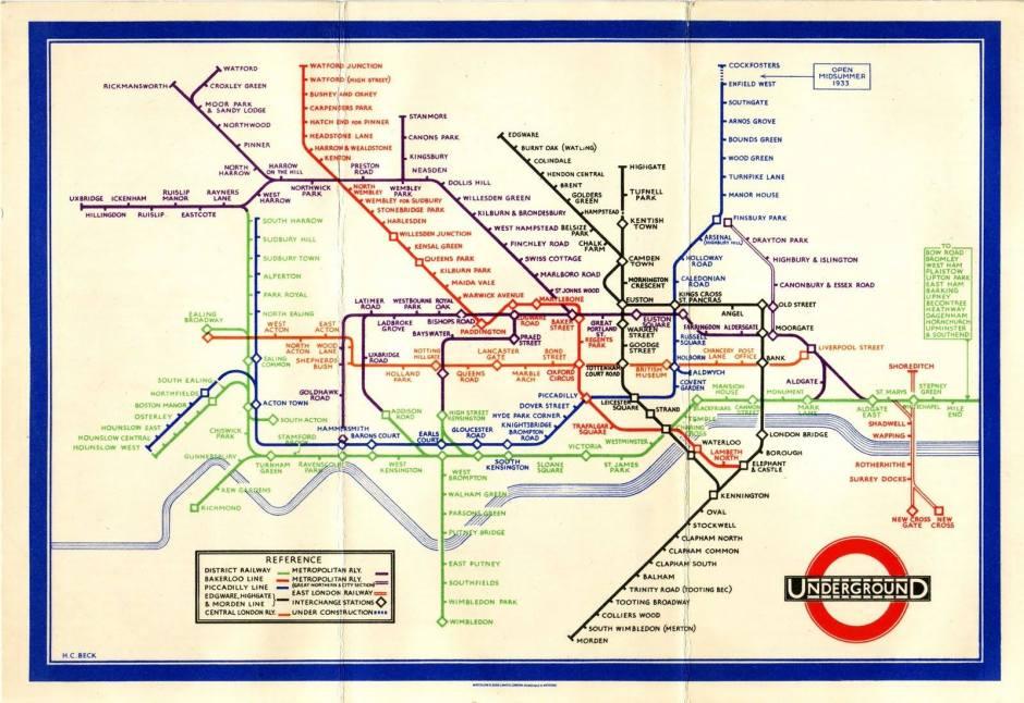 L'étrange plan de métro de Mr Henry Beck