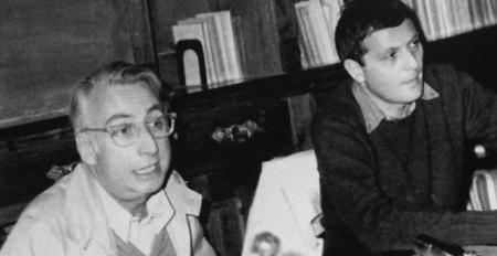Roland Barthes et Philippe Sollers, colloque de Cerisy, 1972