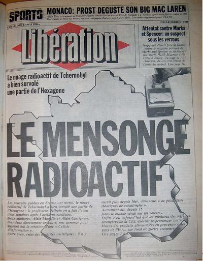 Libération, 12 mai 1986