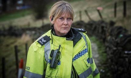 Le sergent Catherine Cawood (Sarah Lancashire), photo Ben Blackall / BBC