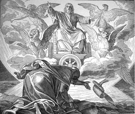 La vision du prophète Ezéchiel, gravure de Gustave Doré