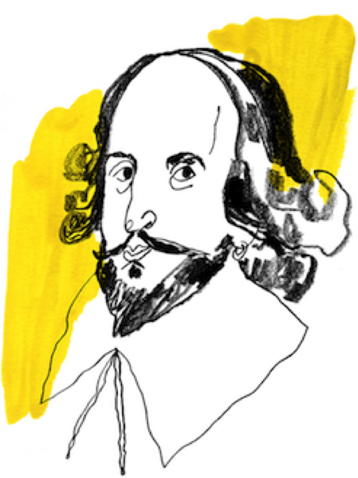 William Shakespeare, dessin de Lauren Tamaki