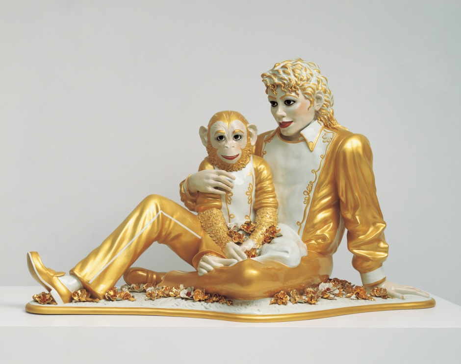 Jeff Koons, Michael Jackson and Bubbles, porcelaine, 1988