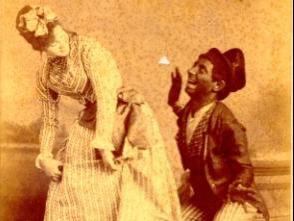 Image du théâtre bouffe cubain : le Noir en train de faire la cour à la mulâtresse