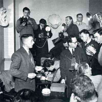 Julien Gracq lors de son refus du Goncourt