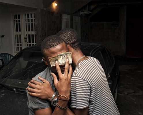 Régis Samba-Kounzi, Junior et Benjamin, quartier de Bon-Marche, KinshasaRDC, 2015