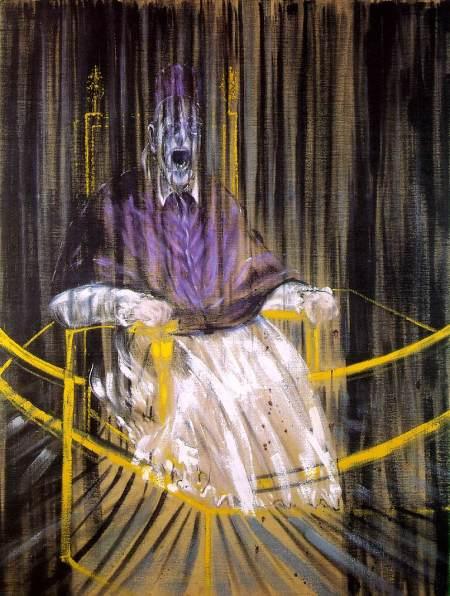 Francis Bacon, Étude d'après le portrait du pape Innocent X de Vélasquez (1953)