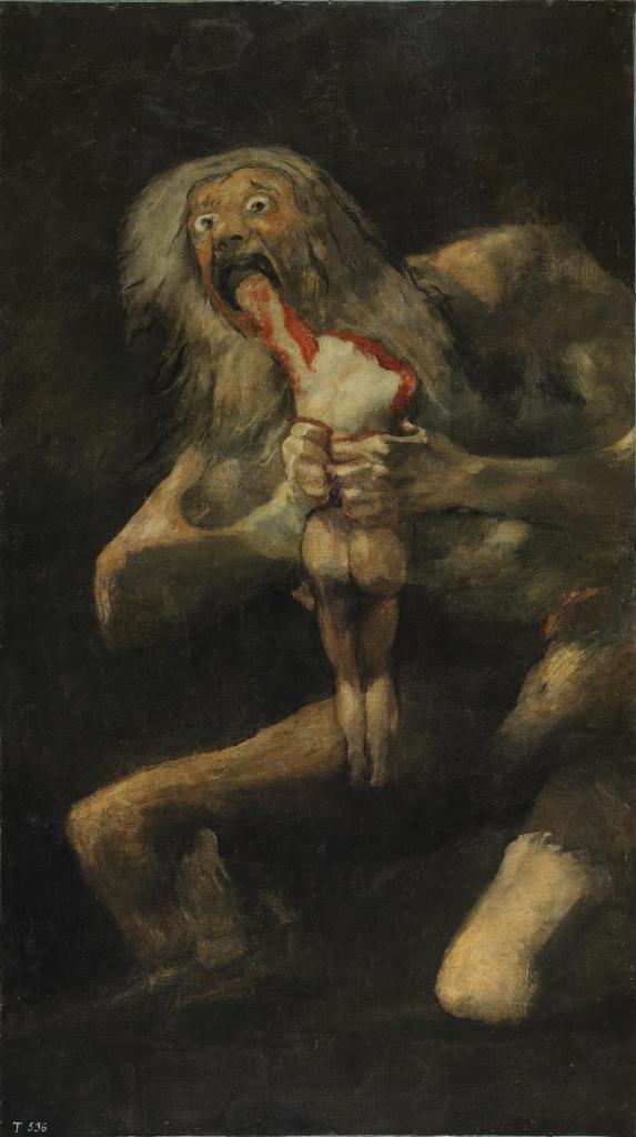 4 - Goya, Saturne dévorant ses enfants