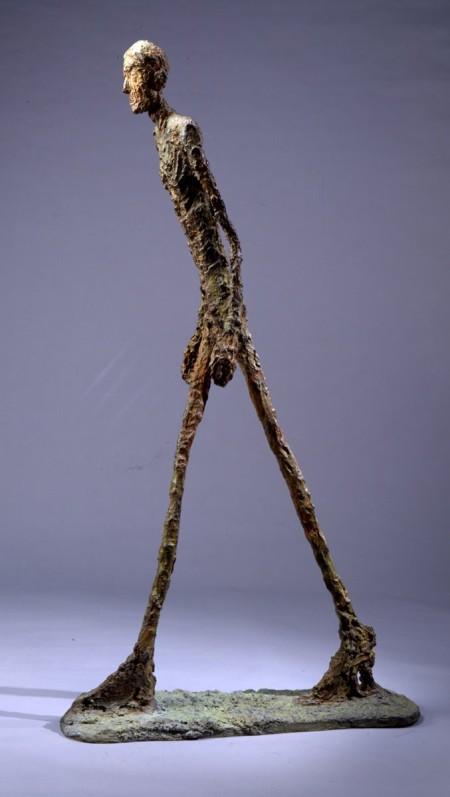 Alberto Giacometti, L'homme qui marche, sculpture en bronze, 1960