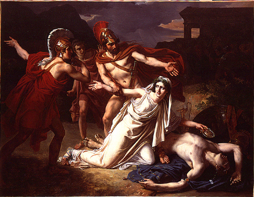 Antigone donnant sa sépulture àPolynice, Sebastien Norblin, 1825