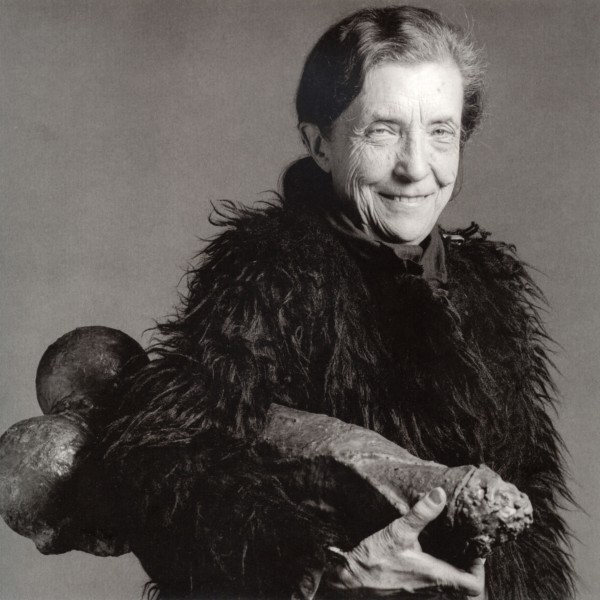 "Robert Mapplethorpe, ""Louise Bourgeois in 1982 with FILLETTE, 1968"", Copyright the Estate of Robert Mapplethorpe"
