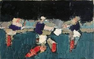 Nicolas de Staël, Les Footballeurs, 1952
