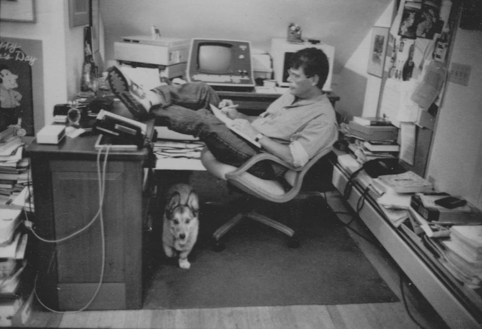 Stephen King working