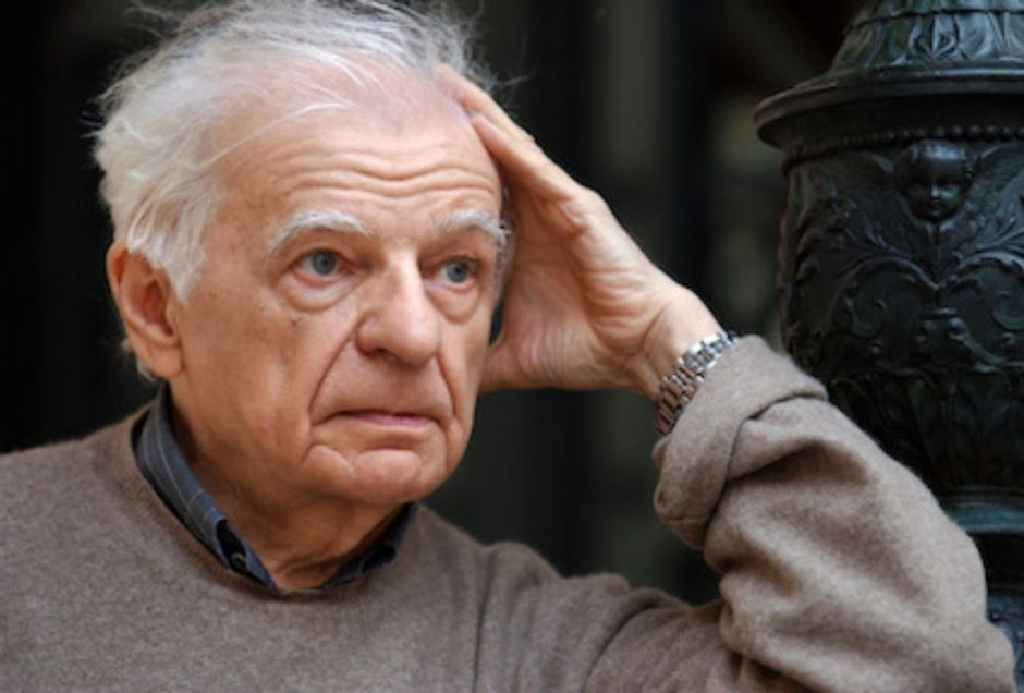 Yves Bonnefoy, Collège de France, 2001. Photo Eric Feferberg. AFP