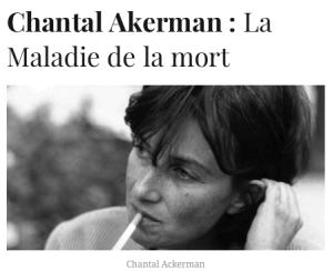 Chantal Akerman (DR)