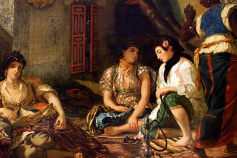 Femmes d'Alger dans leur appartement, Eugène Delacroix