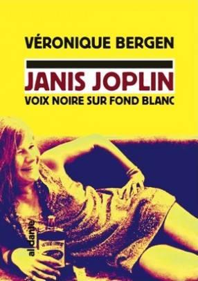 Janis Joplin voix noire sur fond blanc