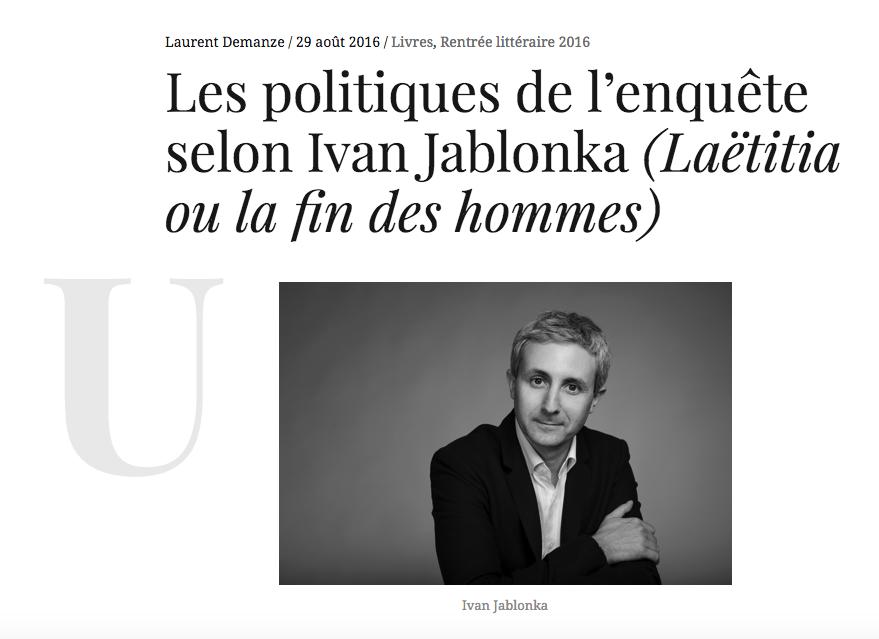 Ivan Jablonka Laëtitia Diacritik