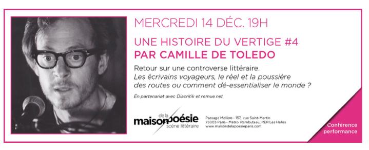 Camille de Toledo Histoire du vertige
