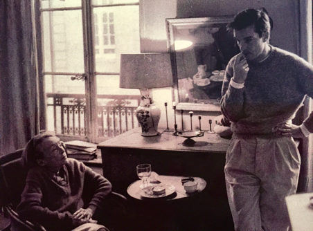 Marguerite Duras et Benoît Jacquot © Hélène Bamberger